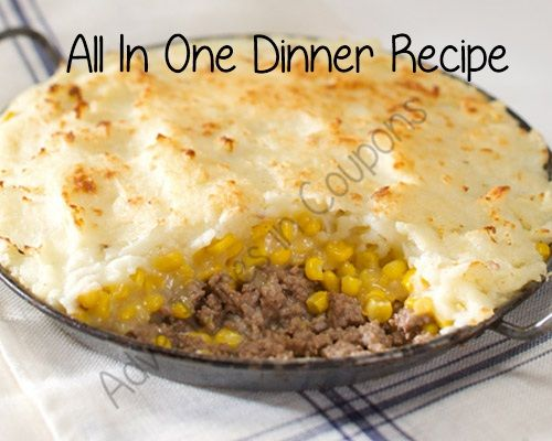 Frugal Recipe | All In One Dinner Recipe - Yummy Quick Meal! - Adventures in Coupons