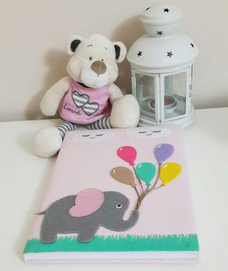baby shower notebook anı defteri keçe