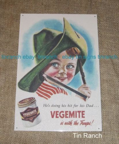 VEGEMITE-TIN-SIGN- Tinranch ebay NEW....
