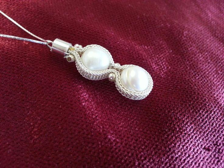 Handmade silver pearl bracelet Kazaziye