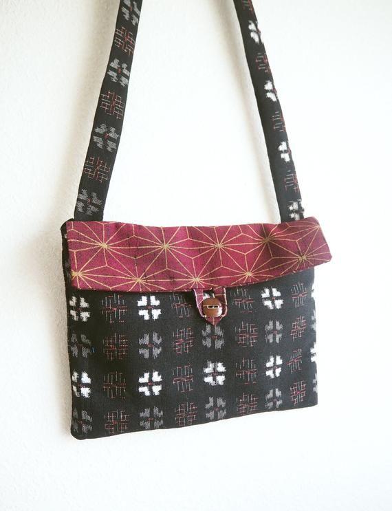 Up Cycled Japanese Vintage Kimono Crossbody Bag Kimono Remake Shoulder Bag