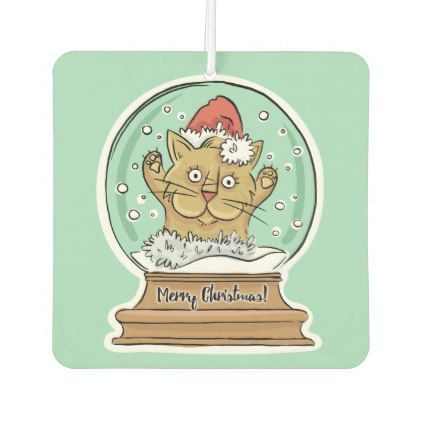 Cute Funny Christmas Cat air freshner Air Freshener - Xmas ChristmasEve Christmas Eve Christmas merry xmas family kids gifts holidays Santa