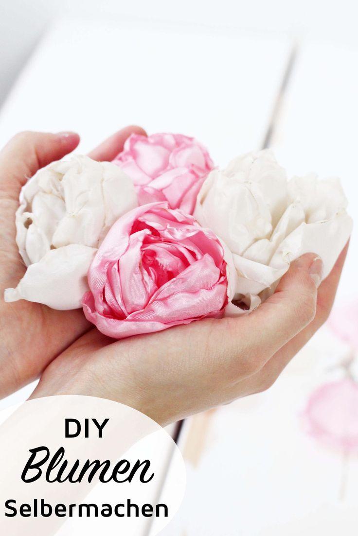 die besten 25 stoffblumen machen ideen auf pinterest blumen machen anleitung f r stoffblumen. Black Bedroom Furniture Sets. Home Design Ideas