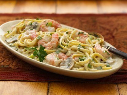 Creamy Seafood Pasta made 7.28.13 -it's a keeper! Super easy and flavorful.