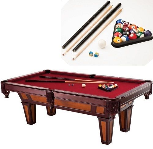 Bar Pool Table Size 7 Ft Foot Billiard Play Gift Bundle Set Combo Dad Sport Game