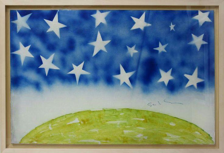 Stars, smalto su tela, Mario Schifano, 1978