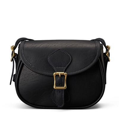 Medium Legacy Saddle Bag in Black Leather