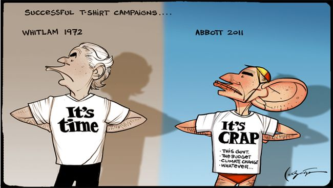 Witlam-it's time; Abbott -it's crap