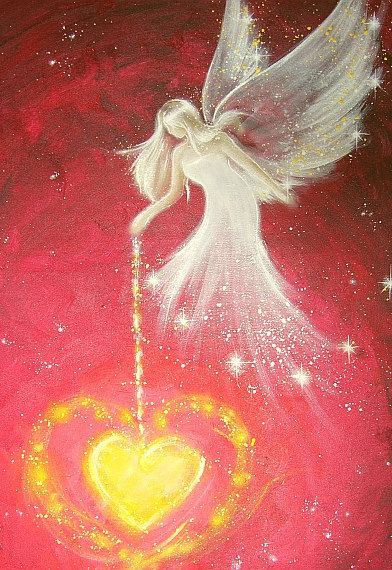 The gift of love, is the most powerful gift of all   Limited angel art photo I give you love modern by HenriettesART
