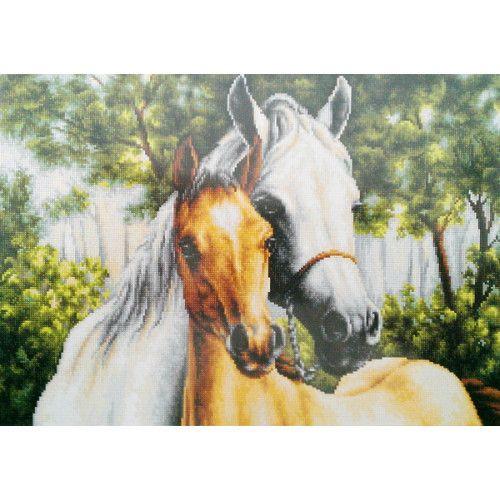 Gobelin Kit Horses DIY Gobelin Set Tapestry kit Needlepoint