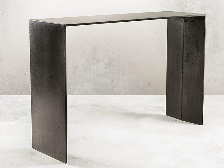 Konsolentisch aus Faserbeton SIMPLE BÉTON by MALHERBE EDITION Design Antoine Courtiol