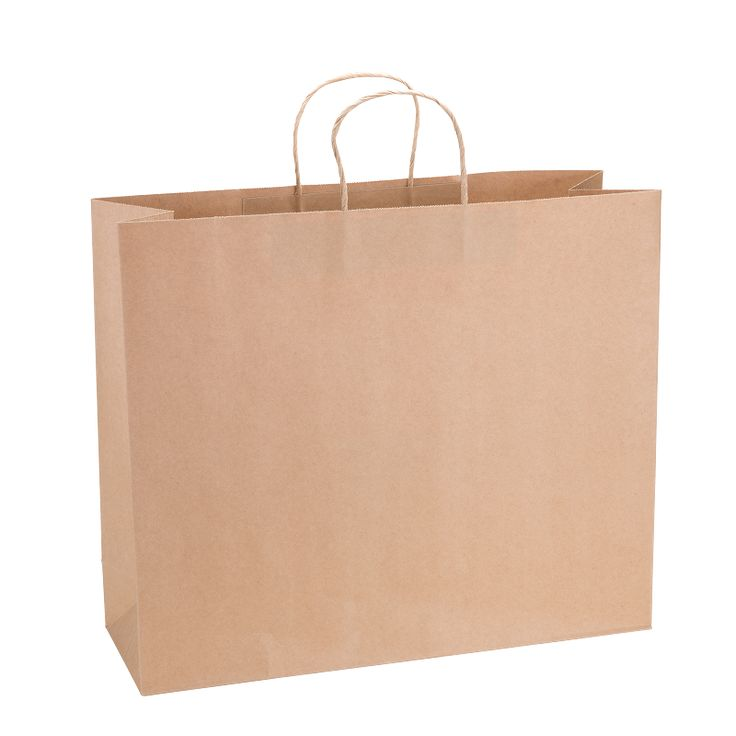 Paper Bag Super Large Wide 435w x 145d x 410h Natural Brown pack - Surestyle Limited