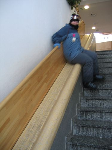 Stair slide, via Flickr.