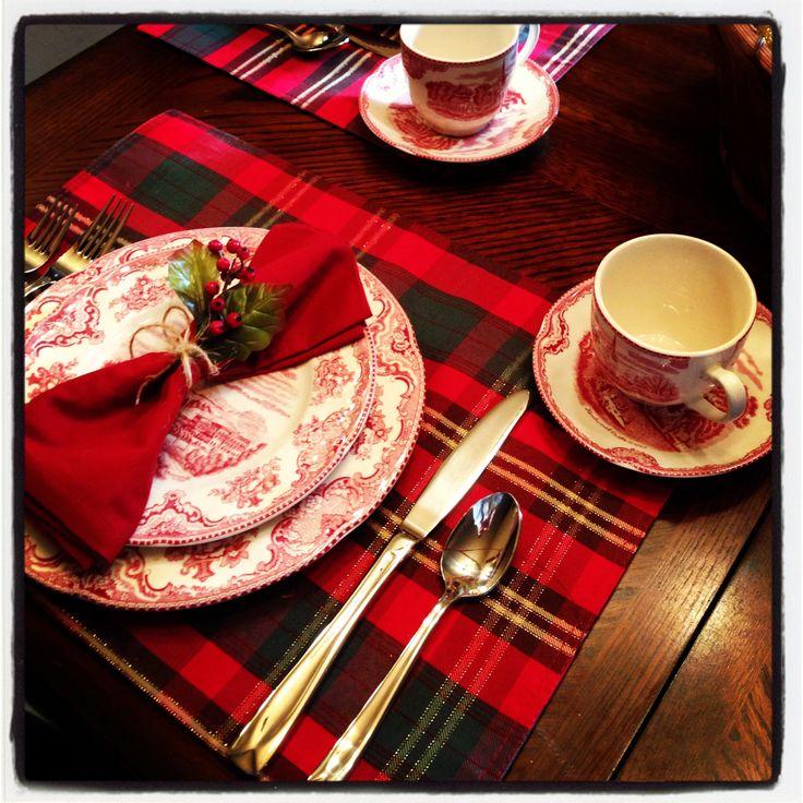 Christmas table setting | Tables | Pinterest | Decoración ...