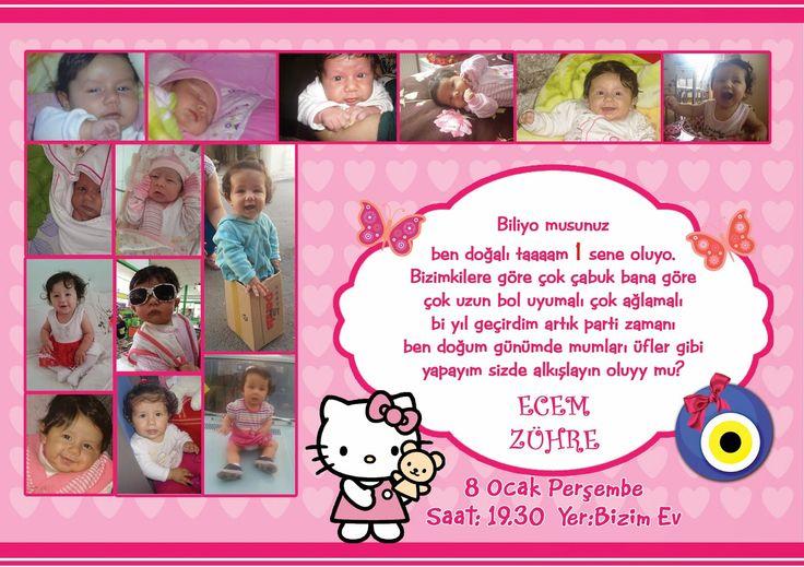 Bebeğim Butik Tasarımlar: Hello Kitty Temalı 1 Yaş Doğum Günü