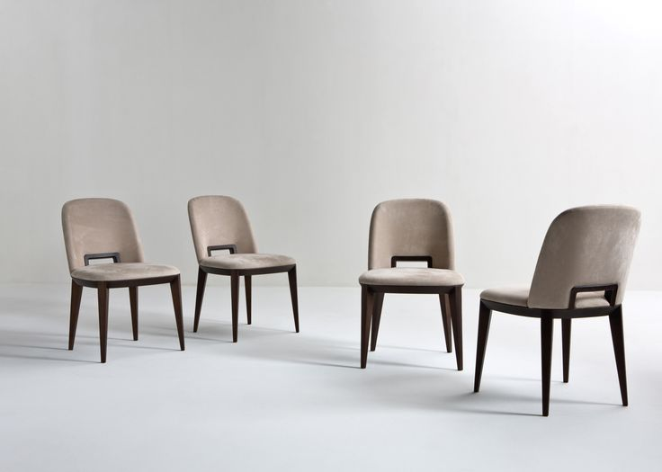 Margaret - Sophisticated chair with wood handle, covered with leather, by Cesare Aorsio | Laurameroni