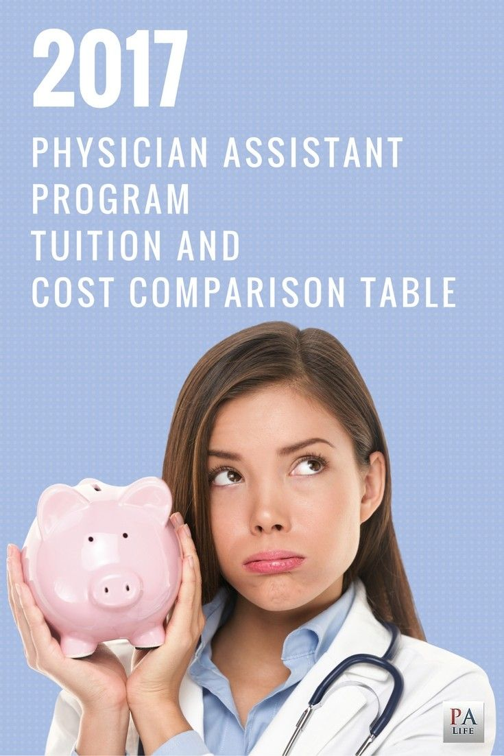 2017 Physician Assistant Tuition and Cost Comparison