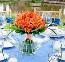 Orange Peruvian Lilies: Bridesmaid Bouquets or Centerpieces