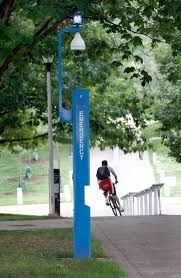 These blue emergency poles are all over the University of Kentucky campus. When you are in a bad or uncomfortable situation you are suppose to press a button and help will be on the way. How long does it take for help to come? How often are they actually used? How affective are they?