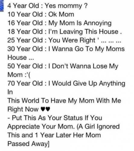 Which sane person would say they love their mother when they make chain shit like this