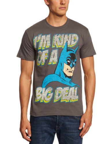 DC Comics - Camiseta de Batman para hombre, talla 43/44, color gris #regalo #arte #geek #camiseta