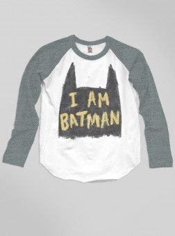 Kids Boys I'm Batman Raglan