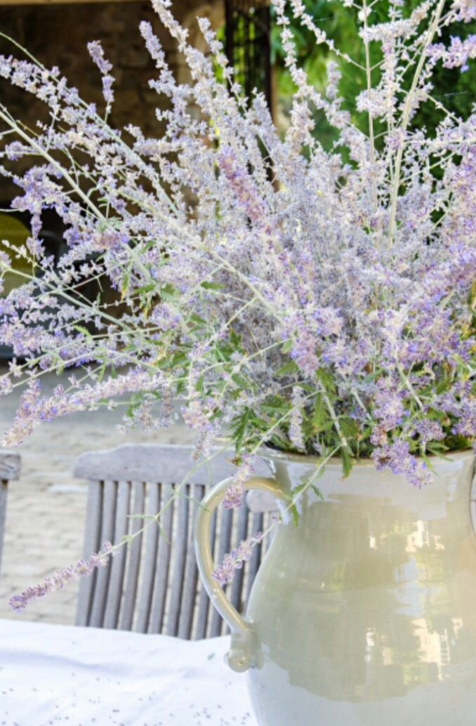 """This lovely lavender in a vase is from our feature """"La Beauté de Provence"""""""