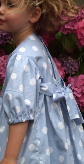 Tulip and Nettle pale blue polka dress children's fashion for summer 2010