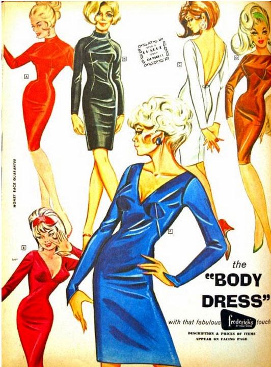 The body dress. 1967 Catalog.   #style  #vintageads