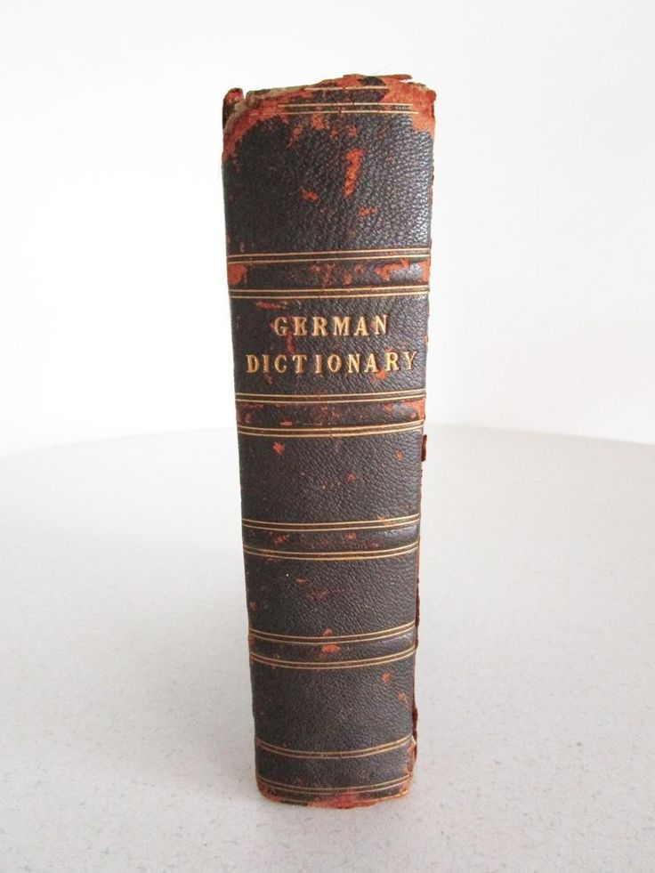 antique german english dictionary 1851 Black's German Dictionary F. W. Thieme