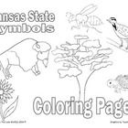 In honor of Kansas Day, here is a pack of Kansas State Symbols Coloring  Pages.  Symbols included: Tree: Cottonwood Insect: Honeybee Mammal: Americ...