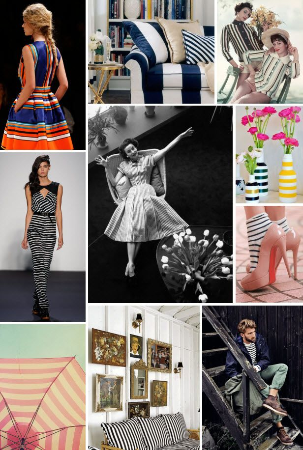 Mood Board Monday: Spring Stripes (http://blog.hgtv.com/design/2014/03/24/mood-board-monday-spring-stripes/?soc=pinterest): Mood Boards, Hgtv Mood, Inspiration Pieces, Fashion Mood, Collage, Moodboards, Mood Board Fashion, Board 1404