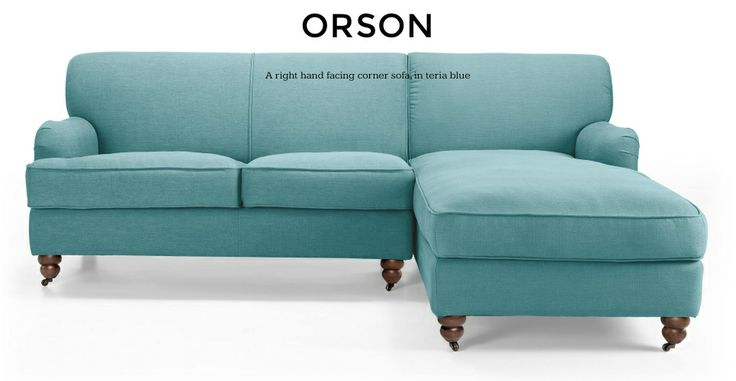 Teal sofa from made.com