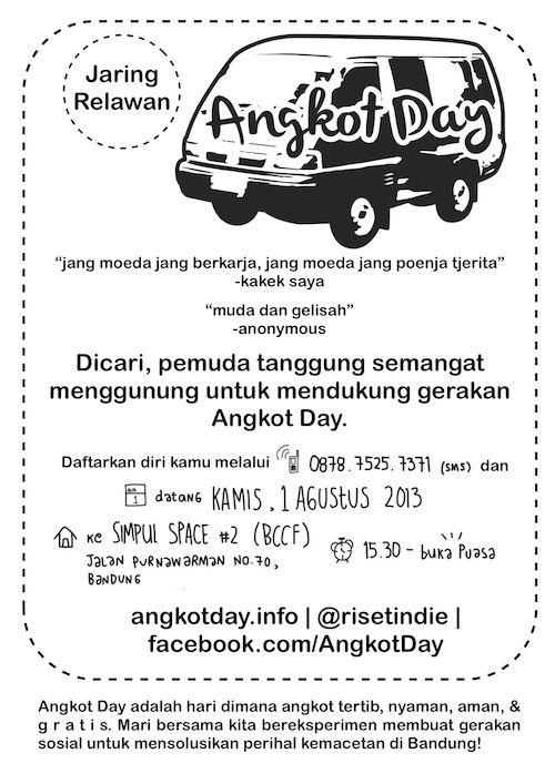 #AngkotDay 20 September 2013 - Satu hari, Satu trayek, ANGKOT Nyaman, Aman, Tertib, GRATIS! - Bandung View