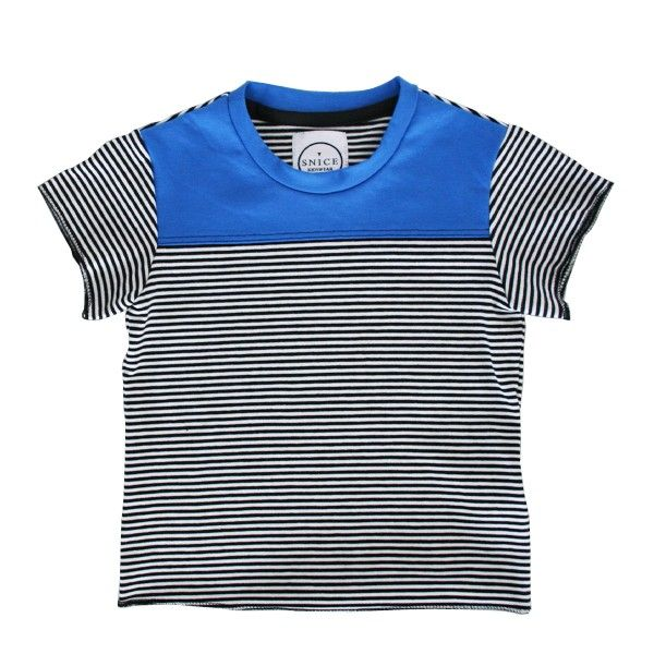 "T-shirt ""Gustav""  black and white  www.snice-kidswear.de"