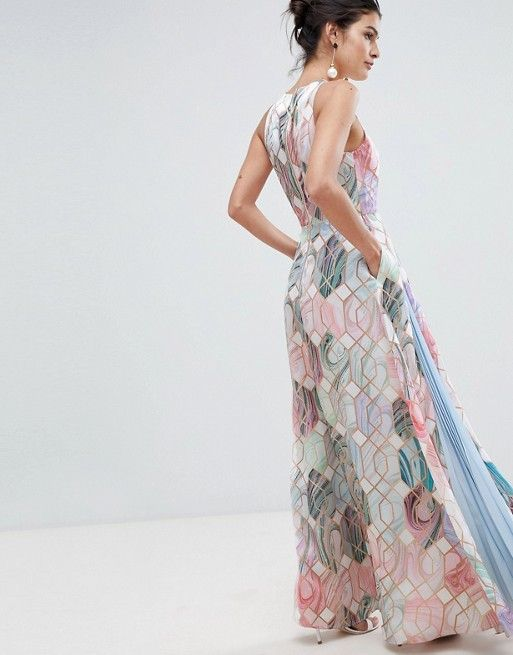 b5a5a32ad Ted Baker fluid maxi dress in sea of clouds print