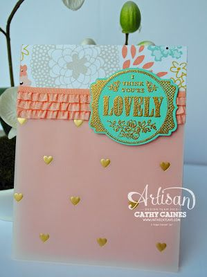 Leadership Display Board Day 2: You're Lovely by Cathy Caines @Stampin' Up!