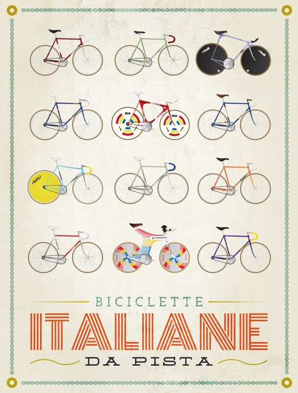 /via milanofixed.com #bicycle #fixie #illustration