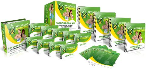 Reduce your weight and burn the calories and fats with 9-set of Metabolic Cooking cookbooks.