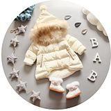 Детские куртки осень-зима из Китая :: Новые детские пальто детские зимние 0-1-3 лет 2-девочки младенческой утолщенной хлопка-ватник детей-хлопка-ватник куртка.
