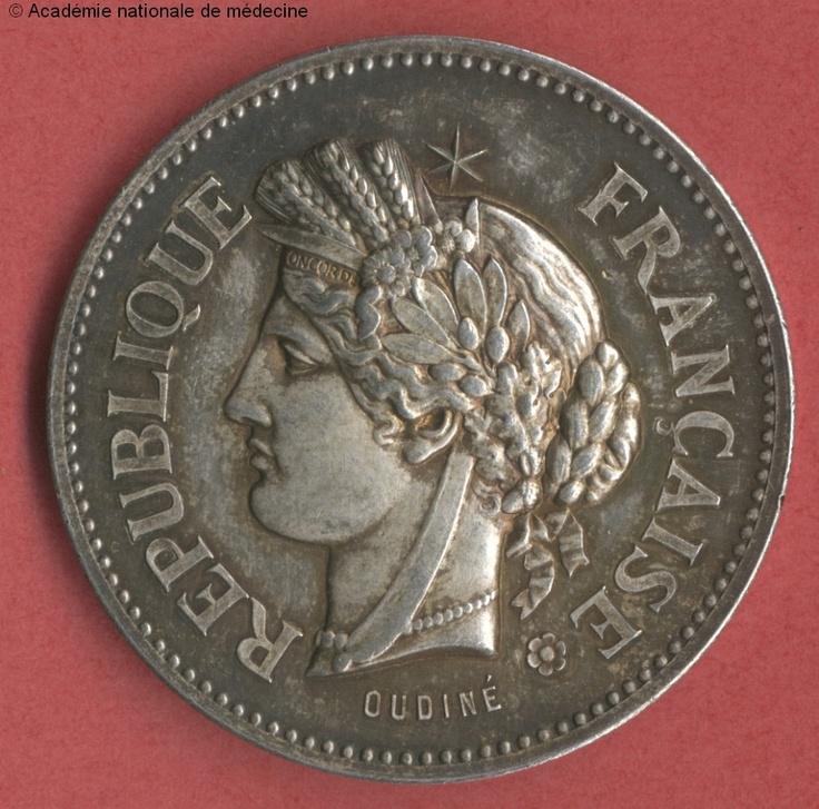 Coin : REPUBLIQUE FRANCAISE. - Revers : PREFECTURE DE POLICE ;COMMISSION D'HYGIENE PUBLIQUE ET DE SALUBRITE -  - anmhaas0302