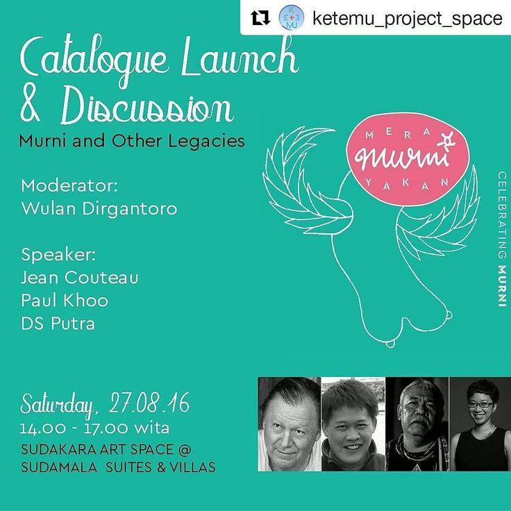 """Diskusi menarik siang ini #baliakhirpekan  #Repost @ketemu_project_space with @repostapp  Join the Catalogue launch and Discussion  moderate by Wulan Dirgantoro and speakers Jean Couteau  Paul Khoo  and IBK Dharma Santika Putra; Will be talk about their essays  also Murni and other legacies. """"what to do with the legacy and what can museums do to activate the collection - not simply to turn it into a shrine to the artist but how we can engage socially and productively with the local…"""