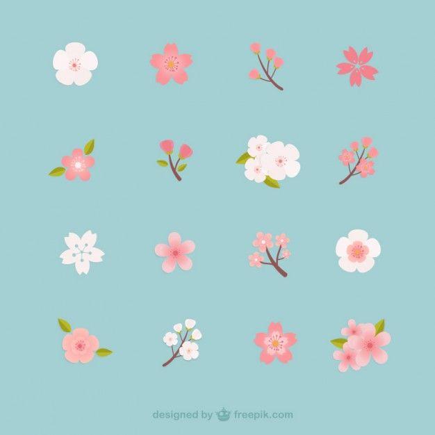 Flores de cereja coleção