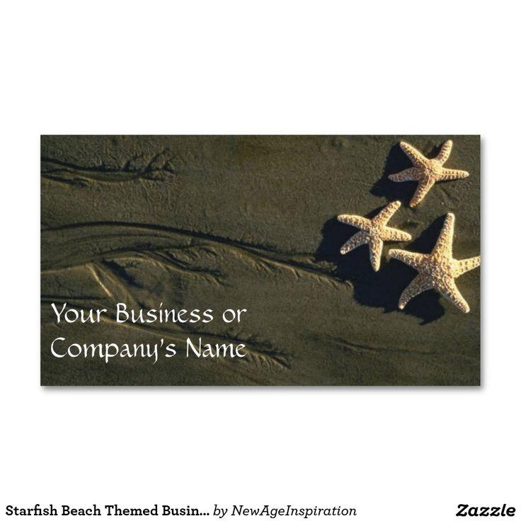 Starfish Beach Themed Business Card