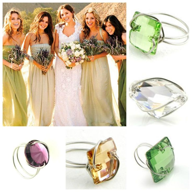 Wedding jewelry, bridesmaid gift, budget conscious, unique.   Made to order-match to your dresses- all the same or mix and match.   http://www.etsy.com/shop/TrinketsNWhatnots?section_id=5561353&ref=shopsection_leftnav_1