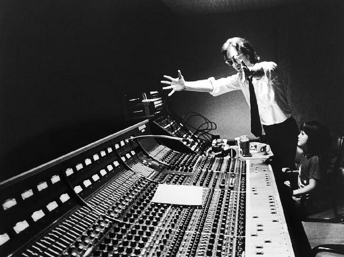 John and Sean, in the studio during the recording of Double Fantasy  1980