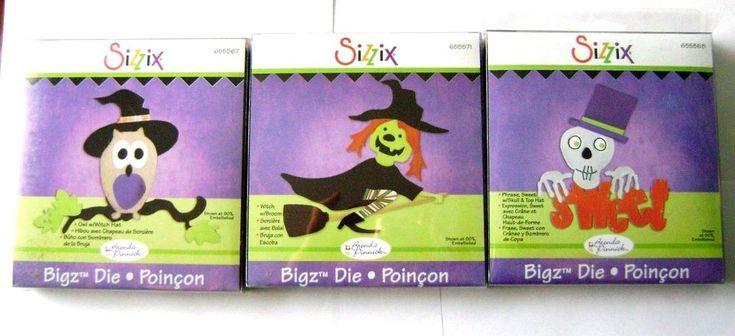 Lot of 3 Brand New SIZZIX BIGZ DIES -  HALLOWEEN - CLEARANCE - BIG SALE #Cuttlebug