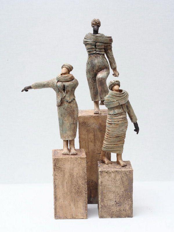 Artist StudyJikke van de Waal-Bijma , Sculptor,Art Student Resources for CAPI ::: Create Art Portfolio Ideas @ milliande.com, Art School Portfolio Work, Figurative, Figure, Sculpture, Assemblage, Clay, Form