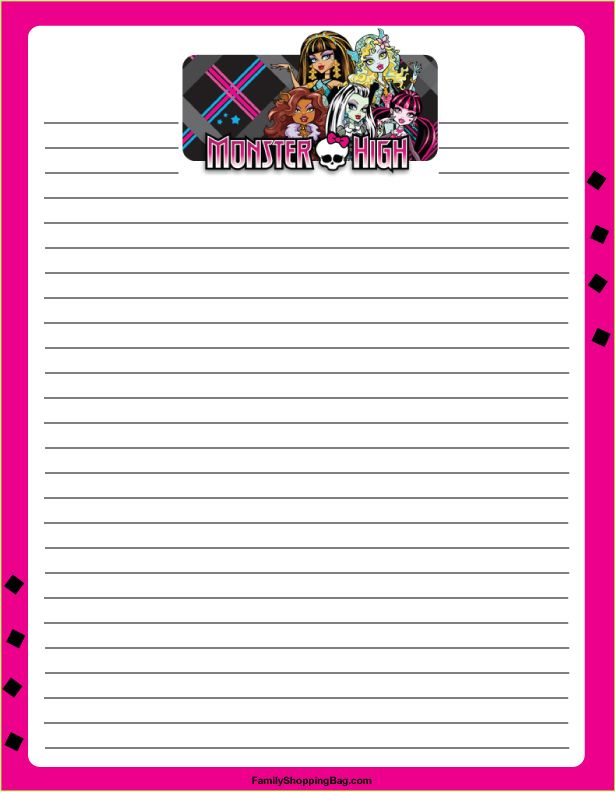 Printables Free Monster High Printable Activities 1000 images about monster high on pinterest party mh stationery free printable ideas from family