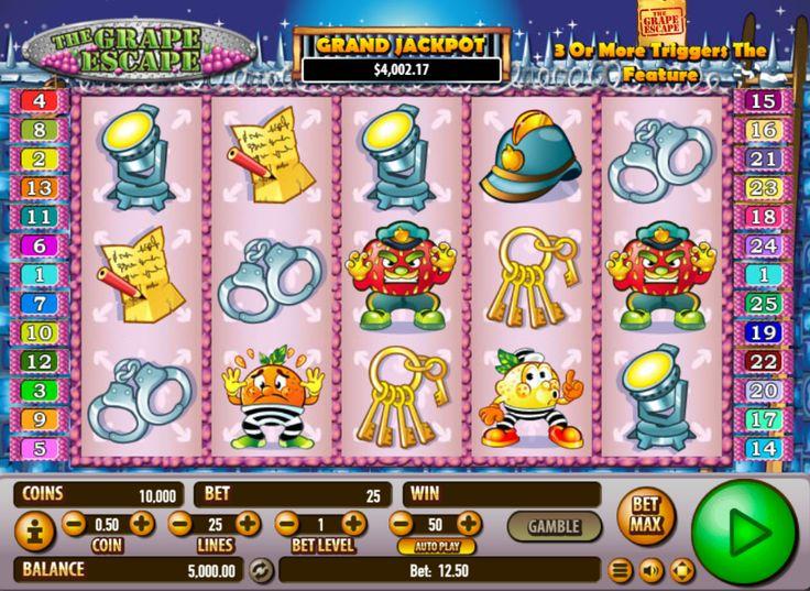 Grape Escape - http://www.777free-slots.com/slot-machine-grape-escape-online-free/